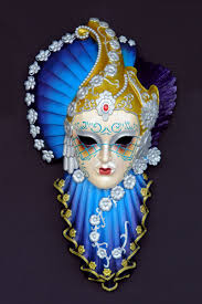 Decorative Masquerade Masks Pop Art Decoration Motifs Venetian masks Onda Azzurra Mask 36