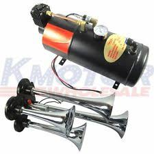 air horn kit new 150 psi 3 liter 12v air compressor 4 trumpet chrome train air horn