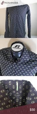 Ted Baker London Men S Size Chart Ted Baker London Men Eye Print Dress Shirt Sz 4 Size 4