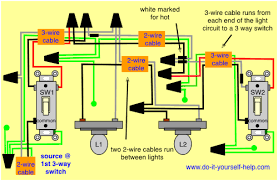 3 way switch wiring with multiple lights