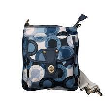 Coach Fashion Turnlock Signature Small Blue Crossbody Bags EOW