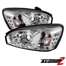 2008 Chevy Malibu Halo Lights Details About 04 07 Chevy Malibu Euro Chrome Pair Led Projector Halo Headlight Assembly