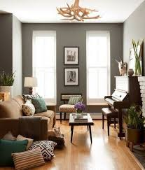 grey walls with light hardwood floors