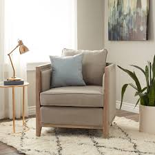 Elliot Beige Linen Lounge Chair - Free Shipping Today - Overstock.com -  15430080