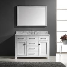 bathroom single sink vanities. 1. caroline 48inch single square sink bathroom vanity vanities