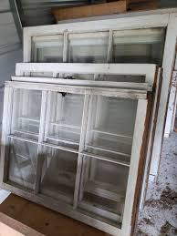 old wooden window frames panes