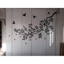 decal sticker birds mural black tree
