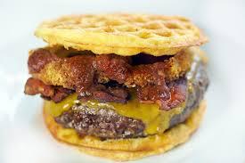 western bacon cheeseburger chaffle
