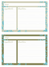 Printable Recipe Cards Page 3 Pour Tea And Coffee