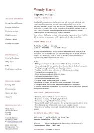 cv support worker. resume example for disability ...