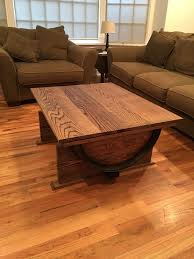 Instructables Coffee Table Wine Barrel Coffee Table 7 Steps With Pictures