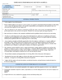 Performance Evaluation Sample Sample Performance Evaluation Up Date Employee Review Frompo 24 1
