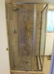 semi frameless single shower doors 2. Semi Frameless Door Panel Return Single Shower Doors 2