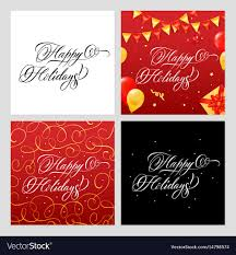 happy holidays banner free. Interesting Holidays Happy Holidays Banners Set Vector Image In Holidays Banner Free P
