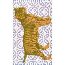 nuloom thomas paul flatweave cotton tiger rug 3 x 5 multi rectangle tatp01a 305
