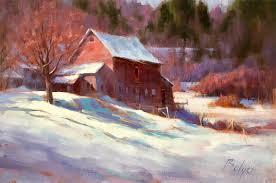 winter barn winter snow