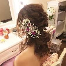 Wedding Hairmakeartist Flower ウェディング ヘアメイク ヘア