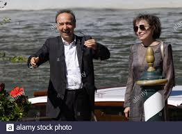 Nicoletta Braschi and Roberto Benigni are seen arriving at the 78th Venice  International Film Festival on September 01, 2021 in Venice, Italy Stock  Photo - Alamy