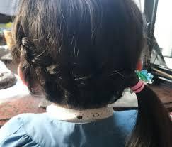 リボンも一緒に編み込んでもok 卒園式入学式子供の髪型ど