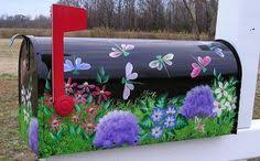 hand painted mailbox designs. Hand Painted Mailboxes, Trash Cans And More From Bick-Lane Creations Mailbox Designs Pinterest