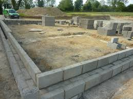 block foundation calculator cinder wall footing home decor cost per foot how many blocks can build