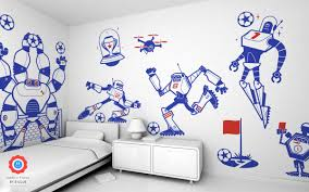 goalkeeper robot kids wall decals on robot nursery wall art with goalkeeper robot wall stickers for baby nursery wall decor