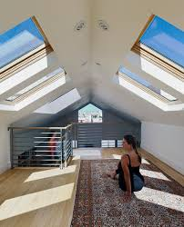 home gym lighting. Eyeball Recessed Lights Home Gym Contemporary With Attic Remodel Skylight. Image By: Yamamar Design Lighting