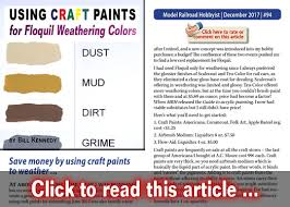 Craft Paints As Weathering Colors Model Railroad Hobbyist
