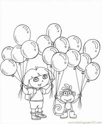 Dora The Explorer Coloring Pages 5 Lrg Page Free