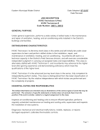Hvac Resume Objective 19 17 Sample Samples Mechanical Engineer