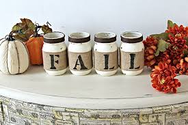 Fall Table Decorations With Mason Jars Amazon Rustic Fall Table Decor In Old White And Dark Brown 50