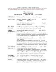 Example Resume Student Nurse Practitioner Student Resume Student Resume Objectives Resume 87