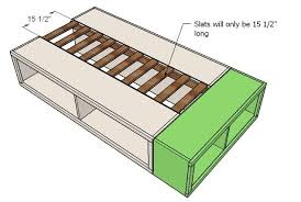 Ana White | Build a Twin Storage (Captains) Bed | Free and Easy DIY ...