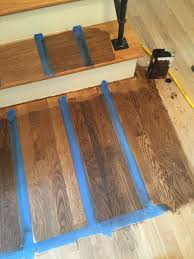 floor is select white oak stair treads are red oak from l r duraseal stains