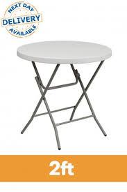 2ft round plastic folding table profile