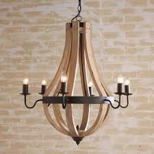 one other image of picket wine barrel chandelier