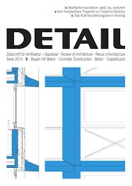 Detail 62014 Bauen Mit Beton Concrete Construction Béton