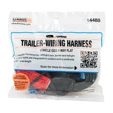 u haul u haul 4 flat vehicle end plug (60\u201d lead) trailer wiring harness with 4-flat connector at 4 Flat Trailer Wiring Harness
