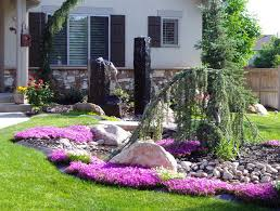 Easy Landscape Ideas Collection And Landscaping For Beginners Images Cheap  That Are Pertaining To Including Basic