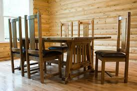 image of awesome mission style dining table
