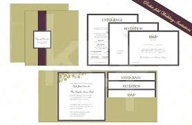 pocket wedding invitations diy pocketfold invitation template