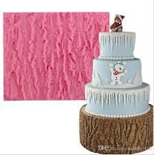 2019 Tree Bark Texture Icicle Silicone Lace Cake Mold Sugarcraft