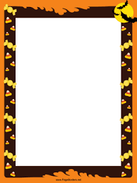 halloween candy clipart border. Simple Clipart This Festive Free Printable Halloween Border Has Bats And Candy Corn  Against An Orange Background Itu0027s Great For Costume Party Invitations To Candy Clipart Border