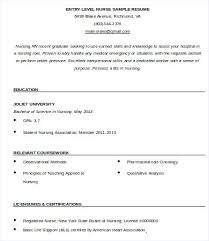 Entry Level Nursing Resume Entry Level Nurse Resume Template Free ...