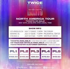 Twice North American Tour Ticket Prices Kpop