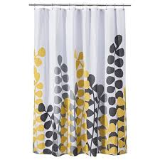 yellow gray shower curtain