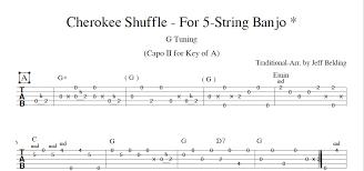 Banjo Capo Chart