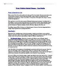 water pollution and case studies gcse miscellaneous marked by  page 1 zoom in
