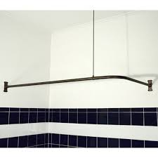 corner shower rod 48 x 60 36 support oil rubbed bronze