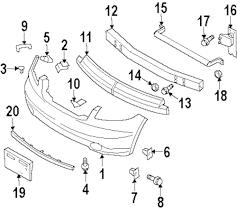 Genuine infiniti bumper cover upper bracket inf 62224cg000